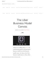 Business Model Canvas Uber pdf - Business Model Canvas Uber