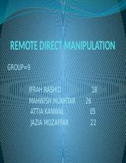 REMOTE DIRECT MANIPULATION.pptx