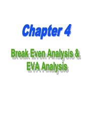 4.1Break  Even Analysis & EVA Analysis.pdf