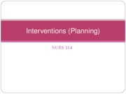 Interventions(Planning)N314