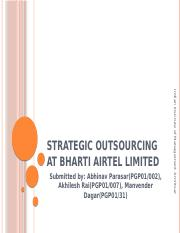 Grpup 2-Strategic Outsourcing at Bharti Airtel Limited
