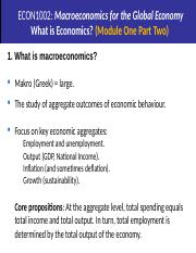 M1 Part Two What is Economics (2)