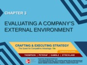 Strategy chapter 3 - Evaluating a company's external environment - MM
