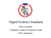 Digital Evidence Standards