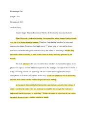 reflective discourse essay