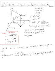 12.7 Triple Integrals in Spherical Coordinates