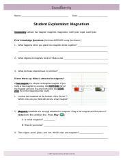 Ionicbondsse Name Date Student Exploration Ionic Bonds Vocabulary