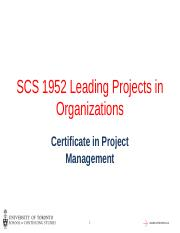 LPO Session 3 - Org Structure, Project Management Maturity, and the PMO