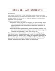 Econ1Bs13 Assignment 3