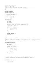 C Program Assignment on Functions