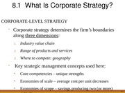 Chapter 8 corporate strategy vertical integration and diversification