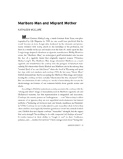 Marlboro Man and Migrant Mother Reading