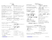 Calculus Cheat Sheet test 1