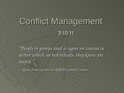 conflict and conflict management 3_10_11 post