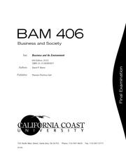 BUSINESS AND SOCIETY -  BAM406FN_0709