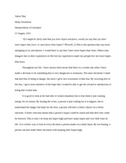 hopes over fears essay