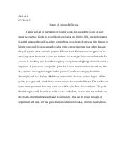 SED 413 Nature of Science Reflection.docx
