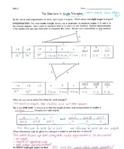 Sin Law in Triangles (Acute)