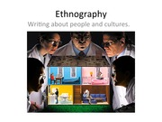 Writing an Ethnography