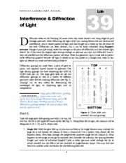 39 Interference and Diffraction of Light