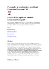Extension Manager CS5 Čtěte