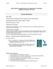 Applied Research in Engineering & Technology syllabus  (2)