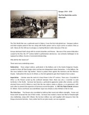 Europe and the First World War.docx