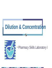 Dilution, Conc & Product Labels.ppt