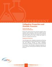 42-0149-00-02-EXP, Colligative Properties and Osmostic Pressure