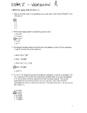 CHEM 102 EXAM 2 SPRING 07-08 - with answers