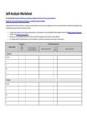 2015_2016 Baldridge Application Self Analysis Worksheet