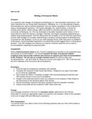 4 pages eng 221 assignment write a formal business memo