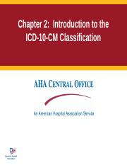 HIT 202 Handbookslides-ch2_revised2015_ICD10.ppt