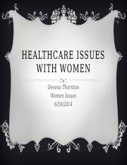 Healthcare Issues with Women
