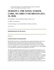 Semoon v The Wooster School Corp.