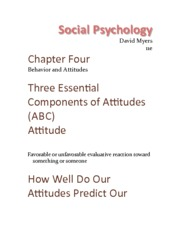 Chapter 4 - Behavior And Attitudes