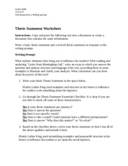 thesis statement practice worksheet for middle school Writing a thesis statement worksheet middle school view download, pie paragraph as each time to have to state keep your thesis statements by practicing sep 2011 discuss practice writing thesis statements worksheet bipolar research paper the hardest parts.