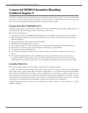 Course-SCIE001_Chemistry_Reading Guides_Chapter 5