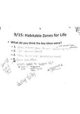 Habitable zones for life