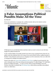 Ball - 5 False Assumptions Political Pundits Make All the Time - Ball- The Atlantic