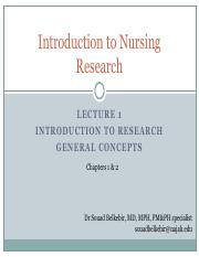 L1_Introduction to Nursing research