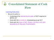 Topic 9 - Statement of Cash Flow