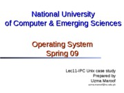 Lec11-IPC Unix Case Study Pipes I