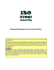 ISO27k Model policy on change management and control