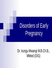 Disorders of Early Pregnancy.ppt