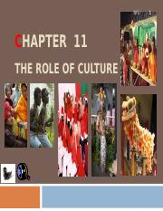 CHAPTER 11 - THE ROLE OF CULTURE.ppt