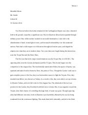 Thematic Essay 1