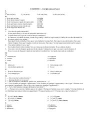 FREN 1001 - Exam 1 (Fall 2017) - Answer keys