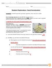 ModuleOneSeedGerminationSE - Name Cameron Kea Date Student ...