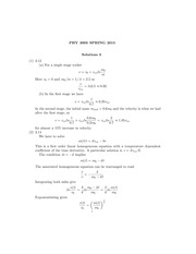 PHYS 3003 Spring 2015 Assignment 3 Solutions